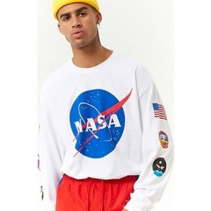 Vintage Style NASA Long Sleeve Graphic Top Unisex